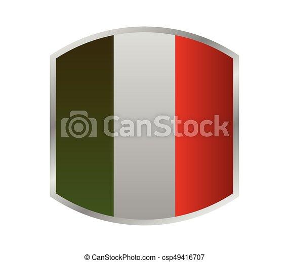 Flag of italy - csp49416707