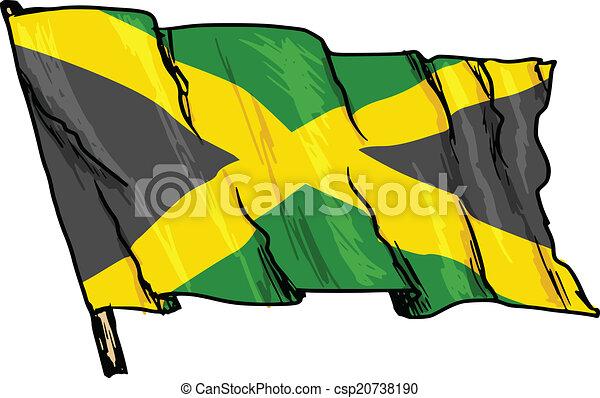flag of Jamaica - csp20738190