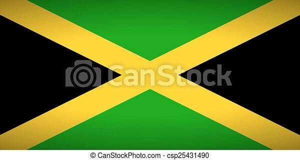 Flag of Jamaica. - csp25431490