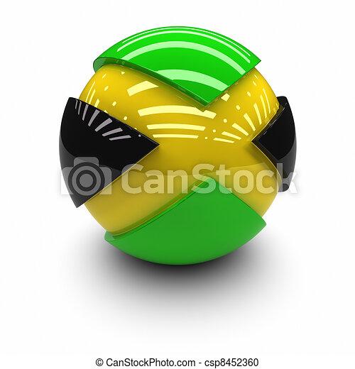 Flag of Jamaica - csp8452360