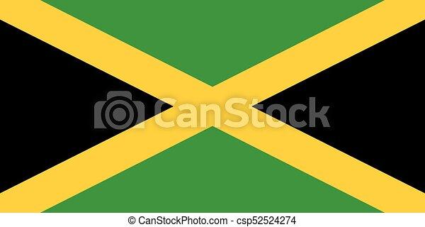 Flag of Jamaica - csp52524274