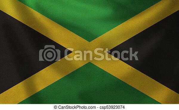Flag of Jamaica. - csp53923074