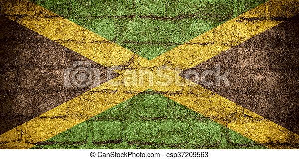 flag of Jamaica - csp37209563