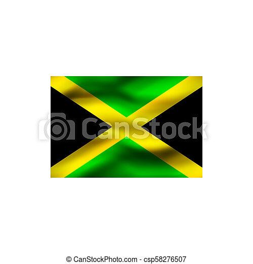 Flag of Jamaica. - csp58276507