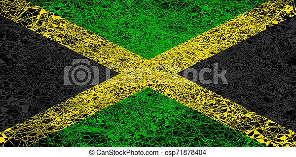 Flag of Jamaica. - csp71878404