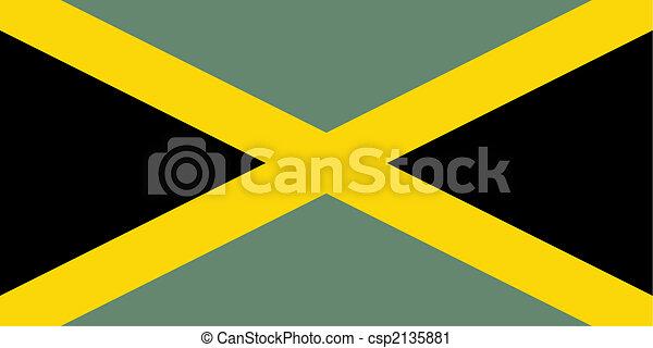 flag of Jamaica - csp2135881