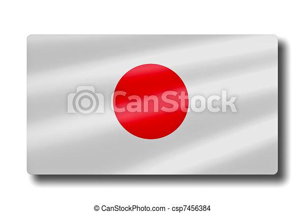 Flag of Japan - csp7456384