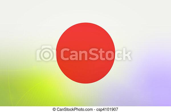 flag of japan - csp4101907