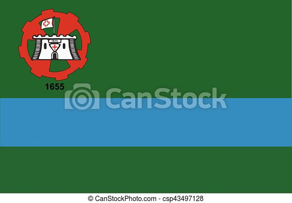 Flag of Jundiai, Brazil. Vector Format - csp43497128