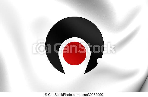 Flag of Kagoshima Prefecture, Japan. - csp30262990