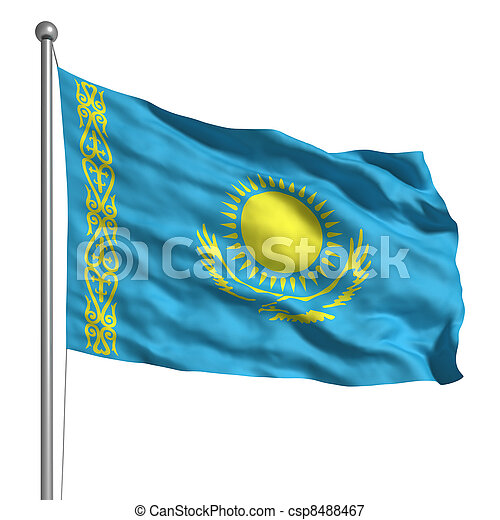 Flag of Kazakhstan - csp8488467