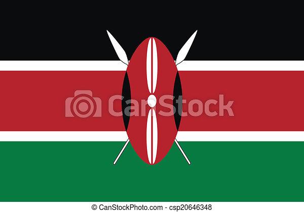 Flag of Kenya - csp20646348