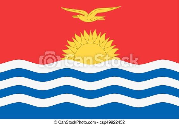 Flag of Kiribati - csp49922452