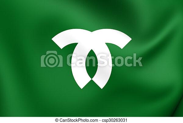 Flag of Kobe City, Japan. - csp30263031