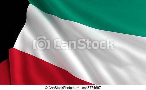 Flag of Kuwait - csp8774697