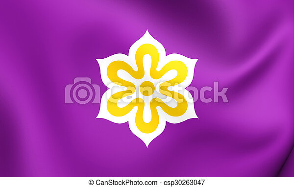 Flag of Kyoto Prefecture, Japan. - csp30263047