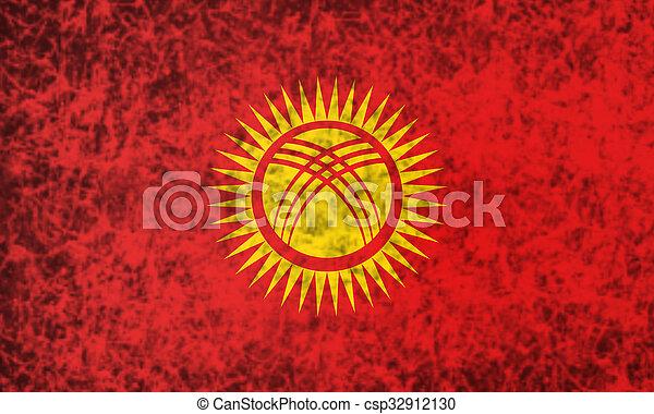 Flag of Kyrgyzstan. - csp32912130
