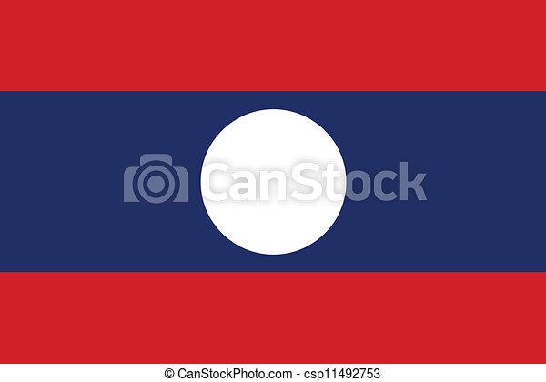 Flag of Laos - csp11492753