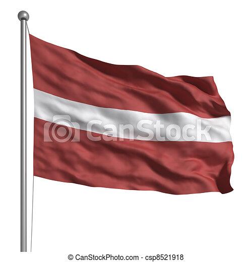 Flag of Latvia - csp8521918