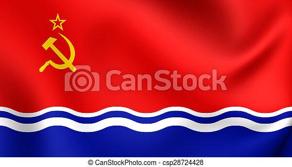 Flag of Latvian SSR (1940-1991) - csp28724428