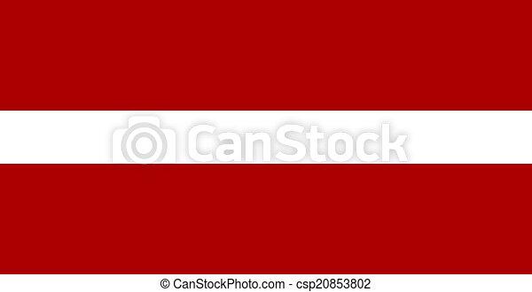 flag of Latvian - csp20853802