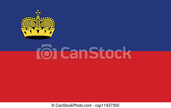 Flag of Liechtenstein - csp11437350