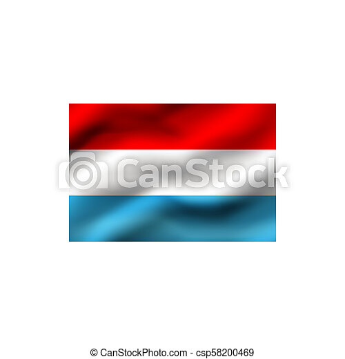 Flag of Luxembourg. - csp58200469