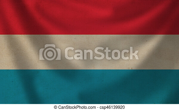 Flag of Luxembourg. - csp46139920