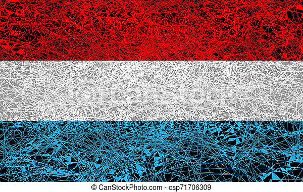 Flag of Luxembourg. - csp71706309
