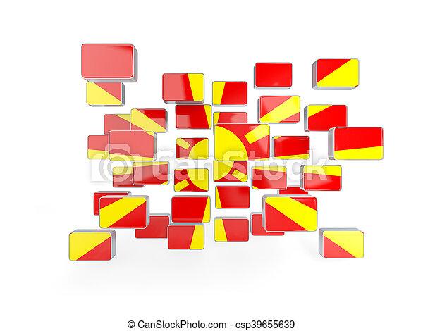 Flag of macedonia, mosaic background - csp39655639