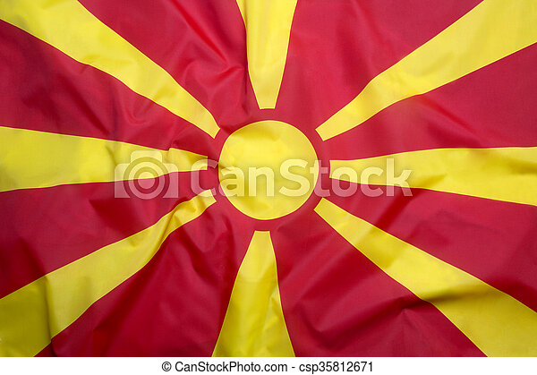 Flag of Macedonia - csp35812671