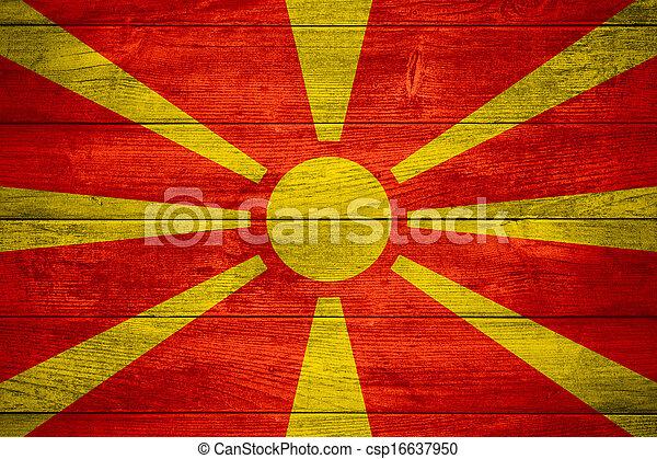 flag of Macedonia - csp16637950