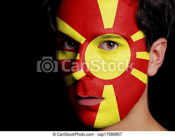Flag of Macedonia - csp17586857