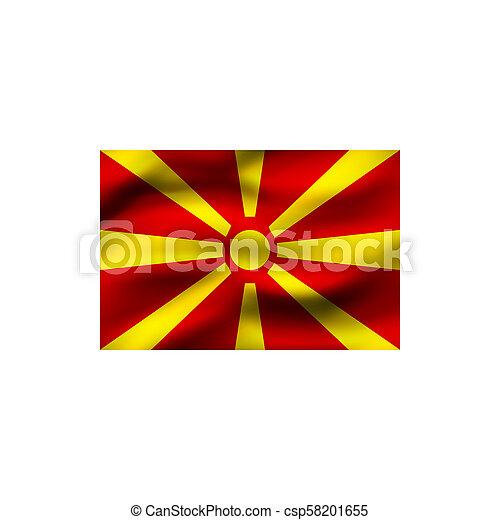 Flag of Macedonia. - csp58201655