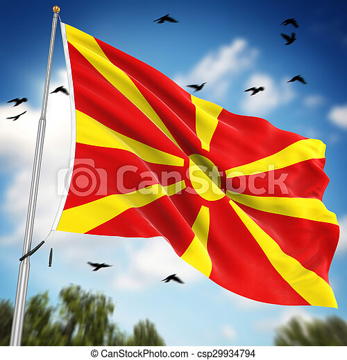 Flag of Macedonia - csp29934794