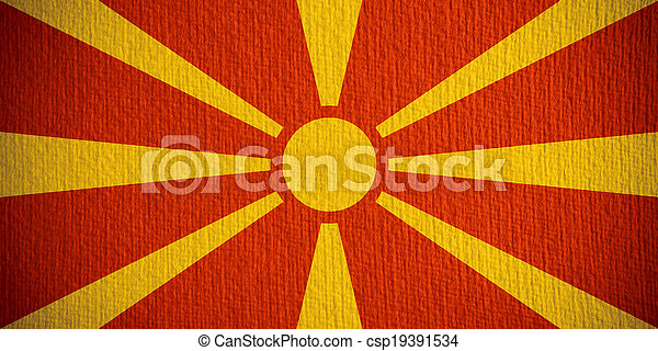 flag of Macedonia - csp19391534