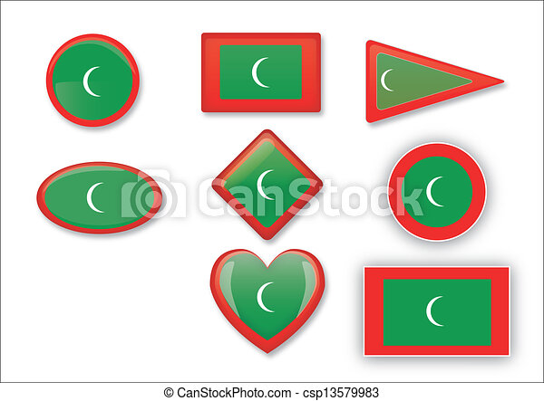 flag of Maldives - csp13579983
