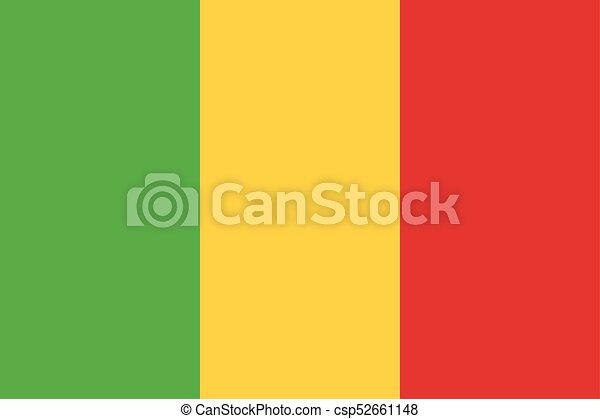 Flag of Mali - csp52661148