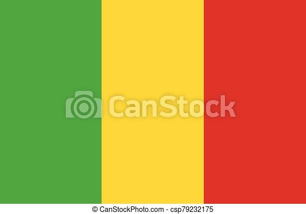 Flag of Mali vector illustration - csp79232175
