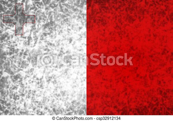 Flag of Malta. - csp32912134