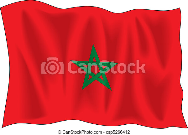 Flag of Marocco - csp5266412