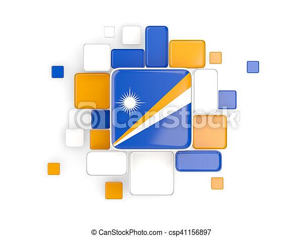 Flag of marshall islands, mosaic background - csp41156897