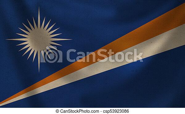 Flag of Marshall Islands. - csp53923086
