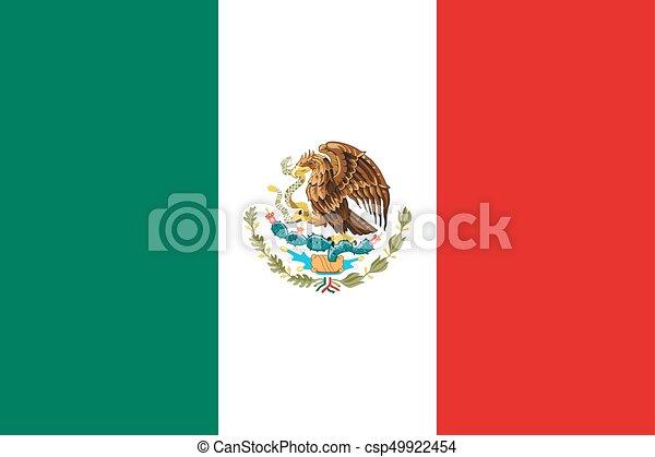 Flag of Mexico. - csp49922454