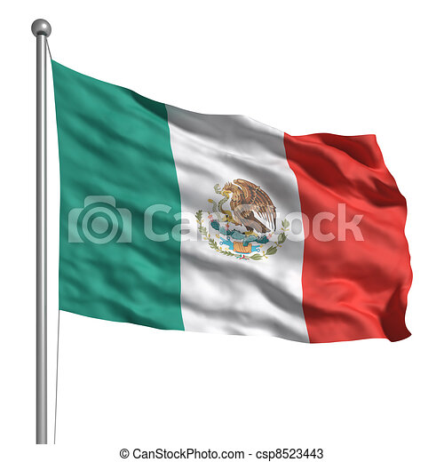 Flag of Mexico - csp8523443