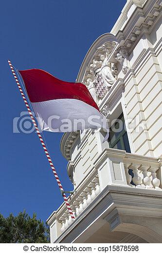 Flag of Monaco - csp15878598