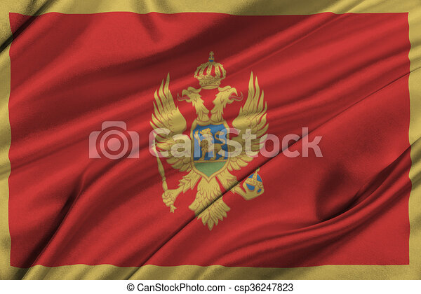 Flag of Montenegro. - csp36247823
