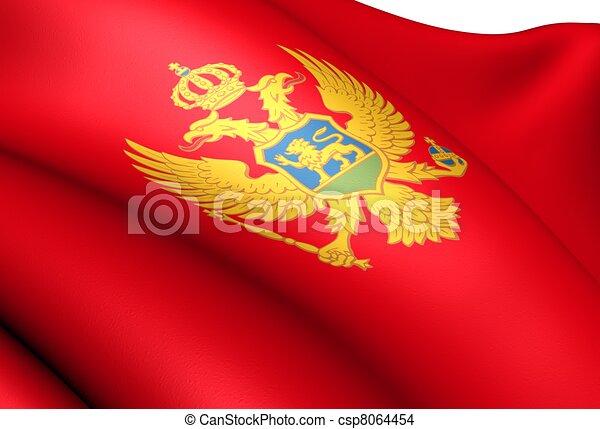 Flag of Montenegro - csp8064454