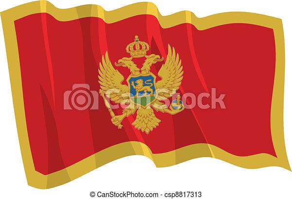 flag of Montenegro - csp8817313
