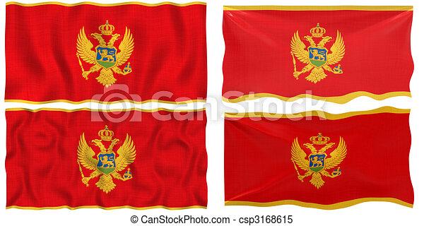 Flag of Montenegro - csp3168615